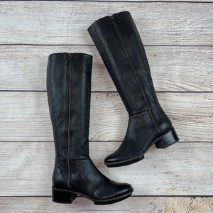 Cole Haan Nike Air Hollis Knee Tall Leather Boots